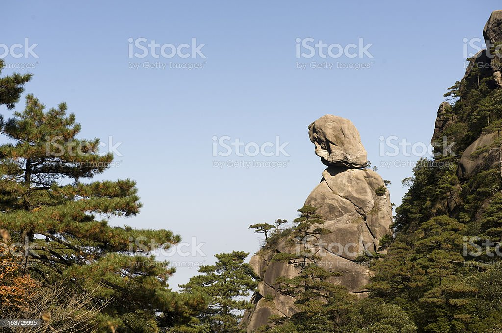 Shennvfeng in Sanqing mountain stock photo