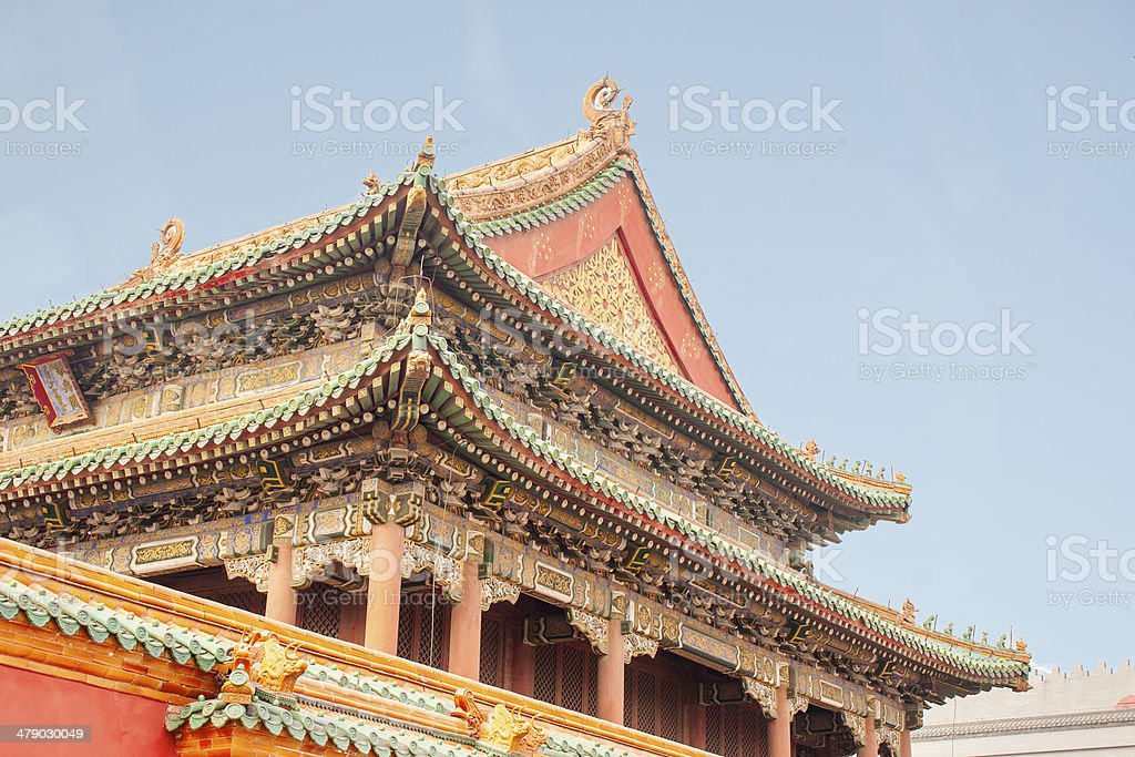Shenyang Beijing Imperial Palace Forbidden City China stock photo