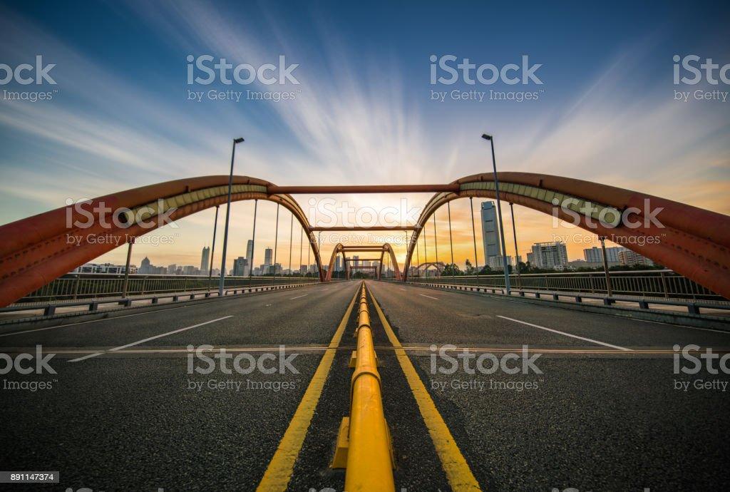 Shenzhen Arch Bridge stock photo