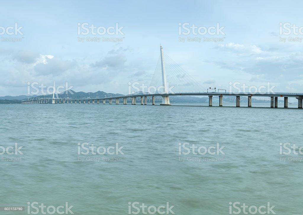 Shenzhen Bay Bridge stock photo