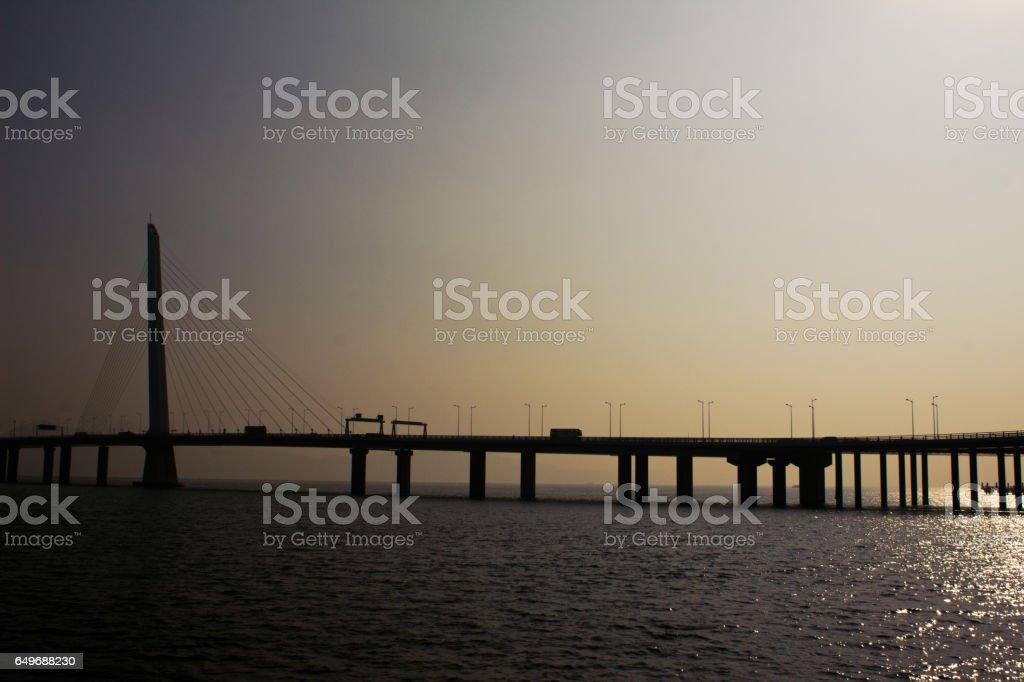Shenzhen bay bridge - Shenzhen - Hong Kong stock photo
