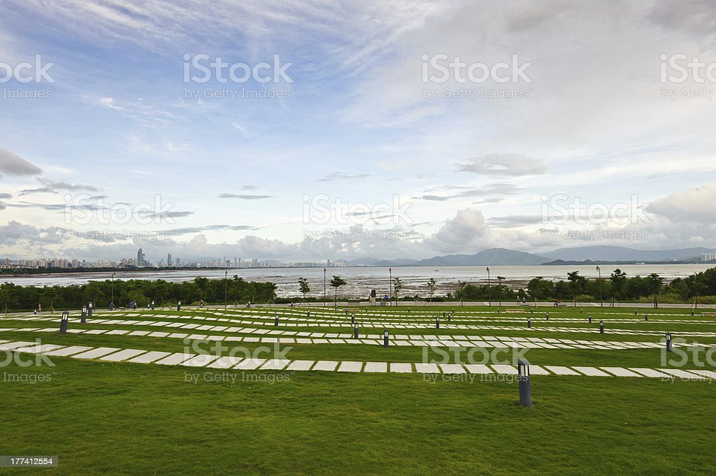 Shenzhen Bay Park, China stock photo