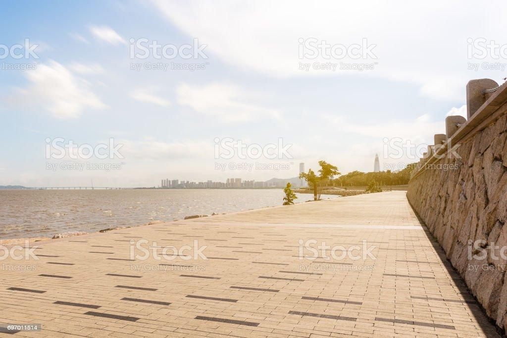 Shenzhen Bay park stock photo