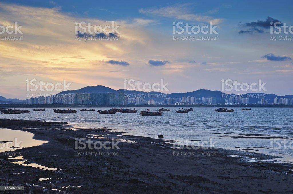 Shenzhen Bay Sunset stock photo