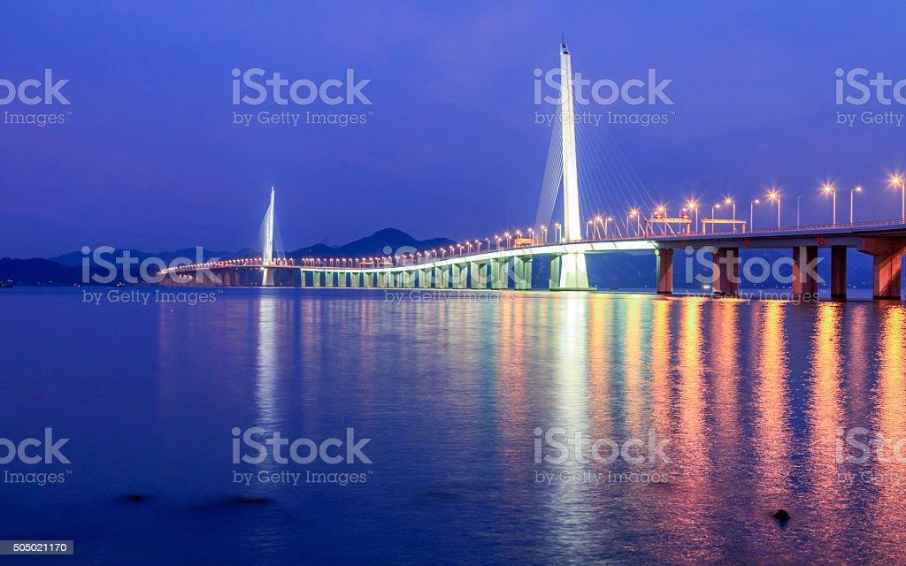 shenzhen bridge stock photo