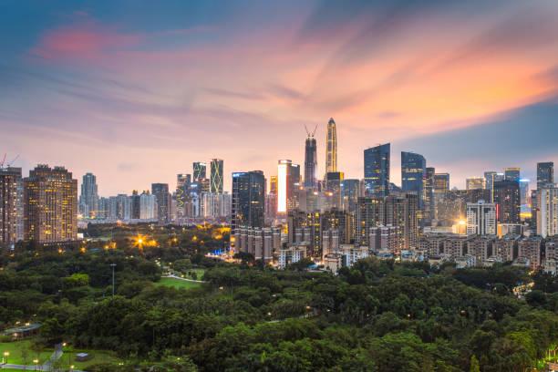 Shenzhen City Center City Scenery Skyline - foto de stock