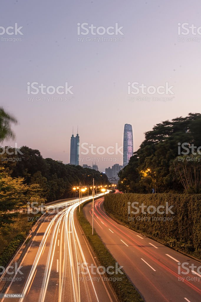 Città di Shenzhen foto stock royalty-free