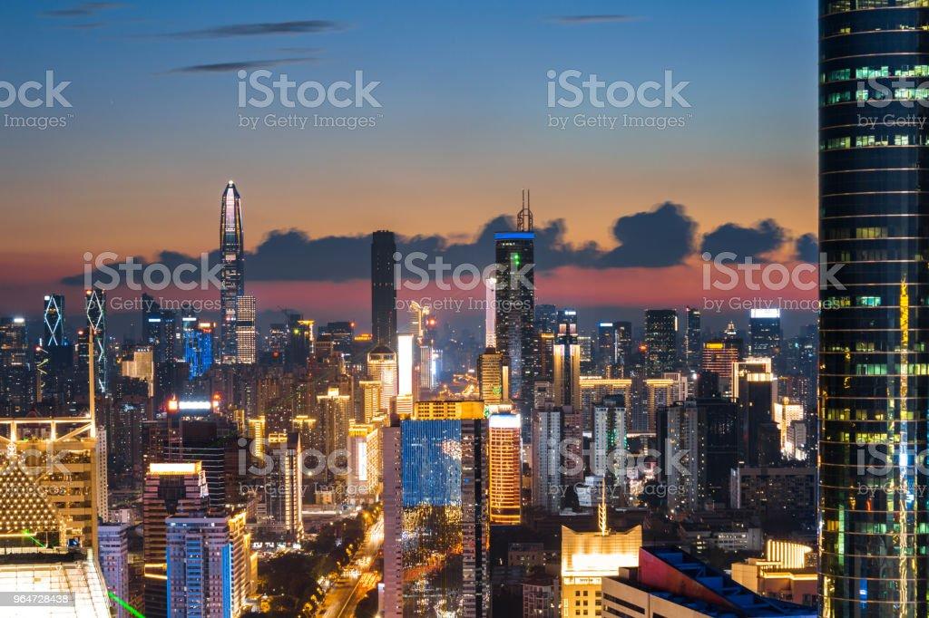 Shenzhen City Scenery night scene royalty-free stock photo
