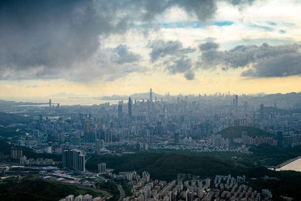 Skyline der Stadt Shenzhen in China – Foto