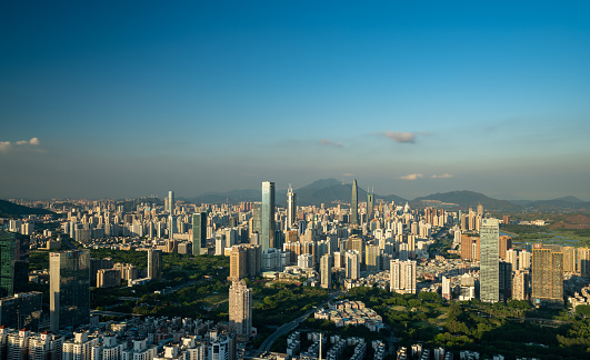 Photo libre de droit de Toits De Ville De Shenzhen banque d'images et plus d'images libres de droit de {top keyword}