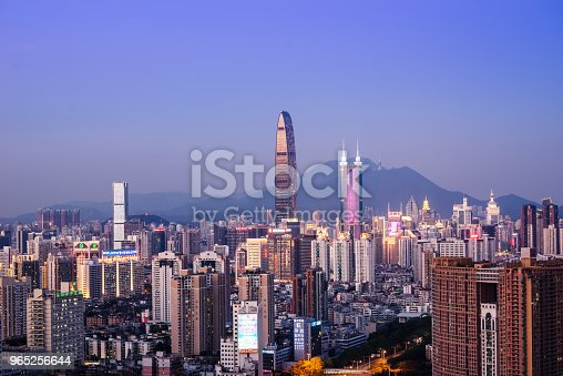 Shenzhen City Skyline Stock Photo & More Pictures of Architecture