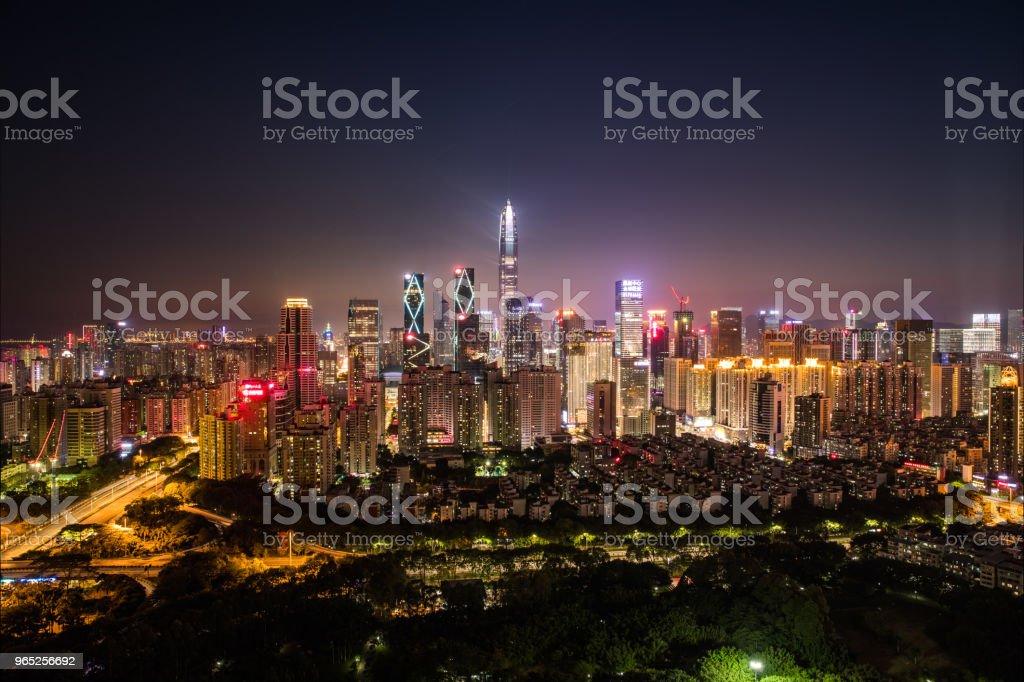 Shenzhen city skyline zbiór zdjęć royalty-free