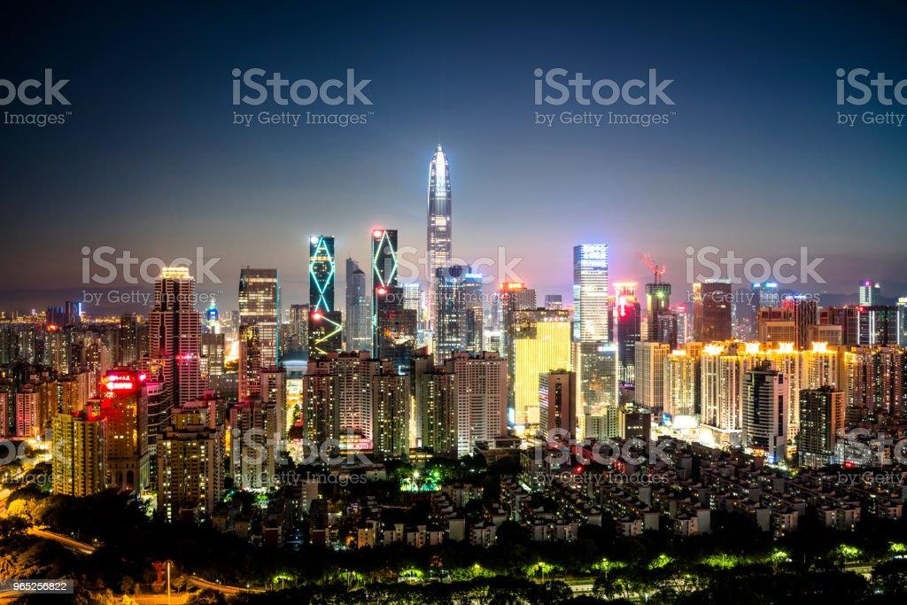 Shenzhen city skyline royalty-free stock photo