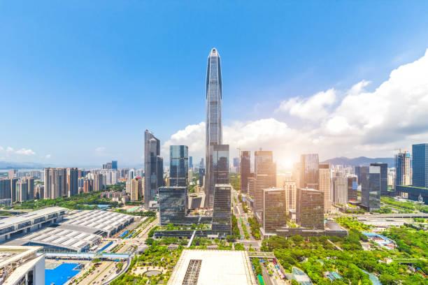 Horizonte de la ciudad de Shenzhen. Shenzhen, China. - foto de stock