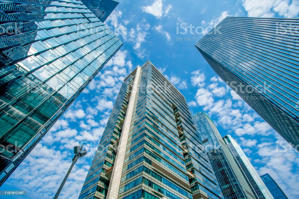 Shenzhen Financial District Skyscraper Building Glass Exterior Wall Stock Photo Download Image Now Istock