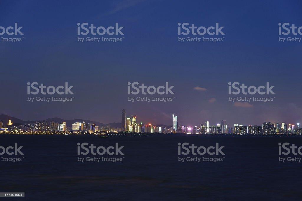 Shenzhen panoramic,Night view stock photo