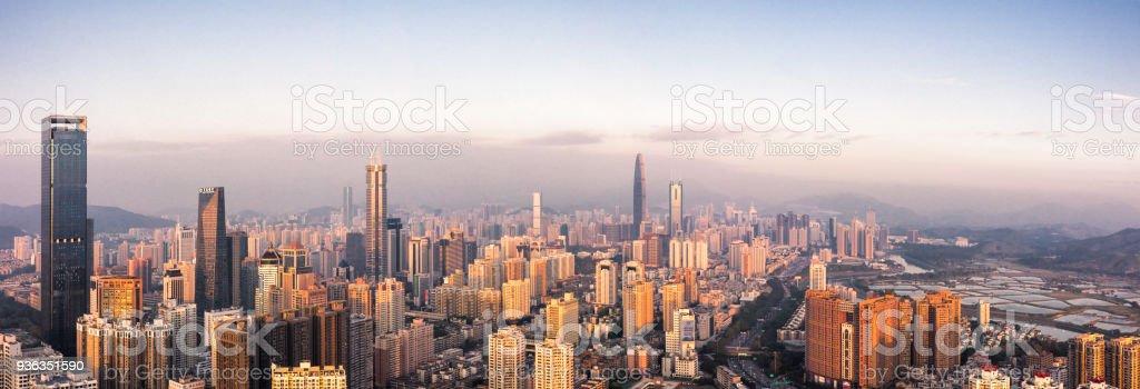 Shenzhen skyline panorama stock photo