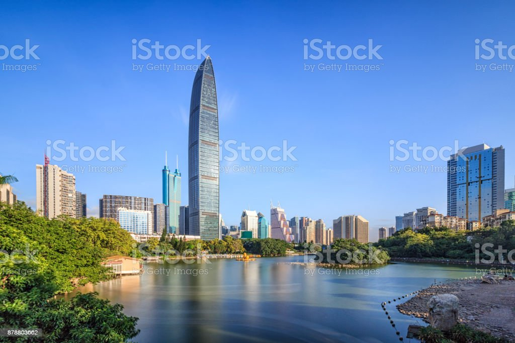 Shenzhen skyline stock photo