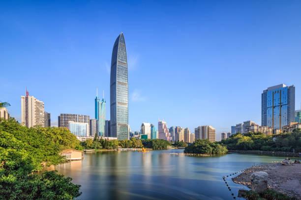 Horizonte de Shenzhen - foto de stock