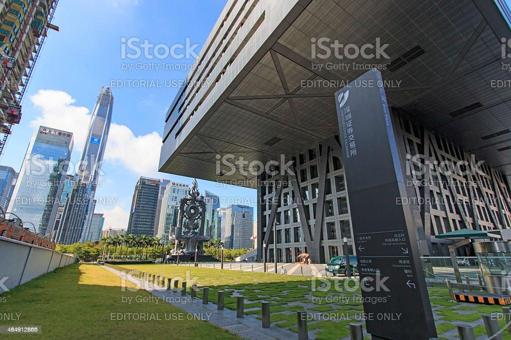 Shenzhen stock exchange building stock photo