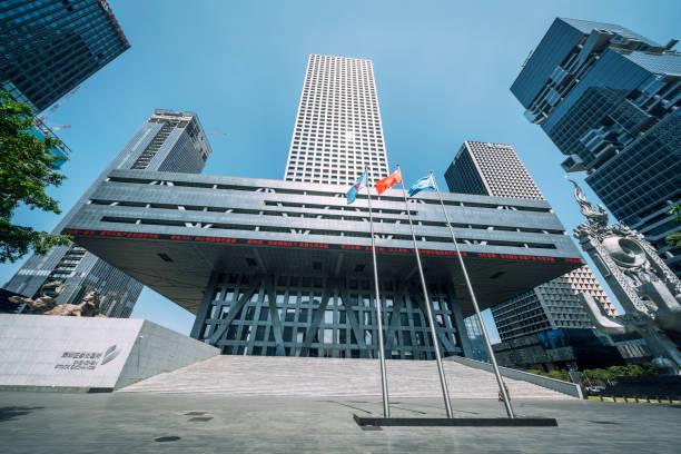 Shenzhen Stock Exchange in financial district of Shenzhen, China.