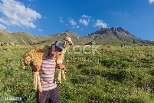shepherd and lamb