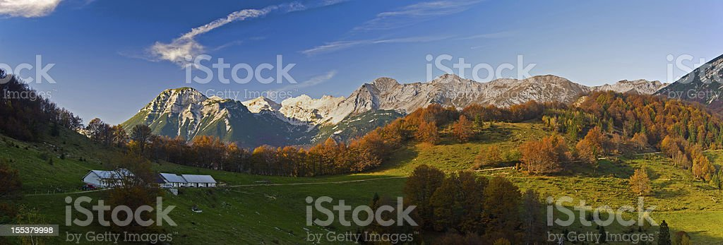shepherds house in the mountains royalty-free stock photo