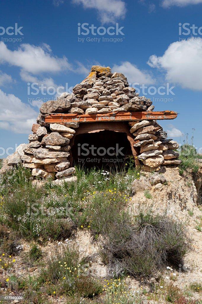 Shepherd's Hut stock photo