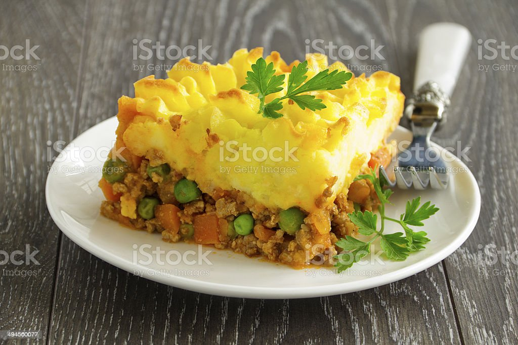shepherd's pie, english cuisine stock photo