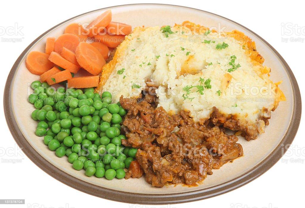 Shepherds Pie Meal royalty-free stock photo