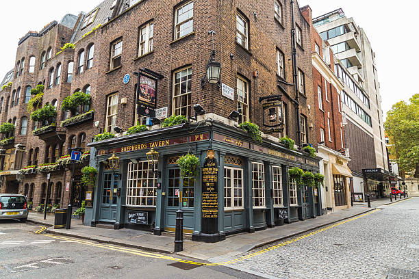 Shepherds Tavern Pub in Mayfair, London London, UK - October 8, 2016: The outside of Shepherds Tavern Pub in Mayfair, London during the day mayfair stock pictures, royalty-free photos & images