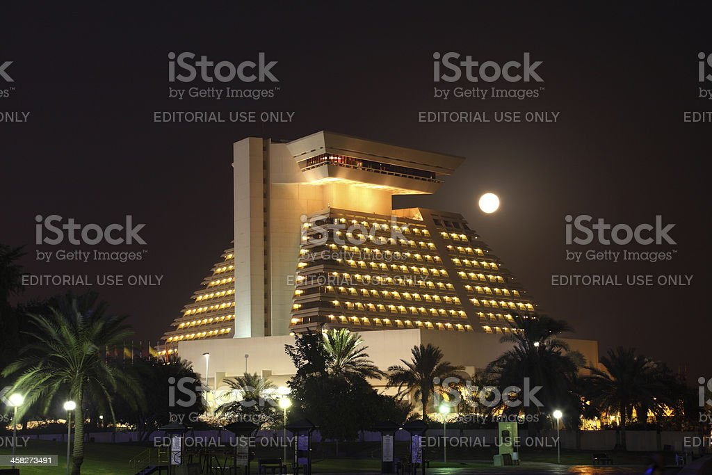 Sheraton hotel in Doha, Qatar royalty-free stock photo