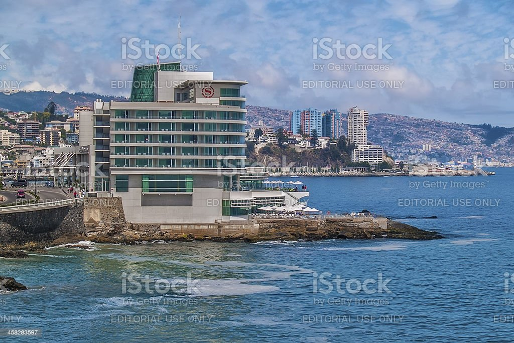 Sheraton Miramar hotel in Vina del Mar stock photo