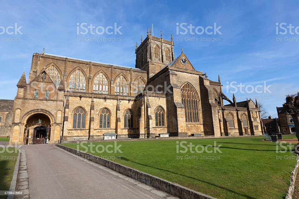 Sherborne Abbey stock photo