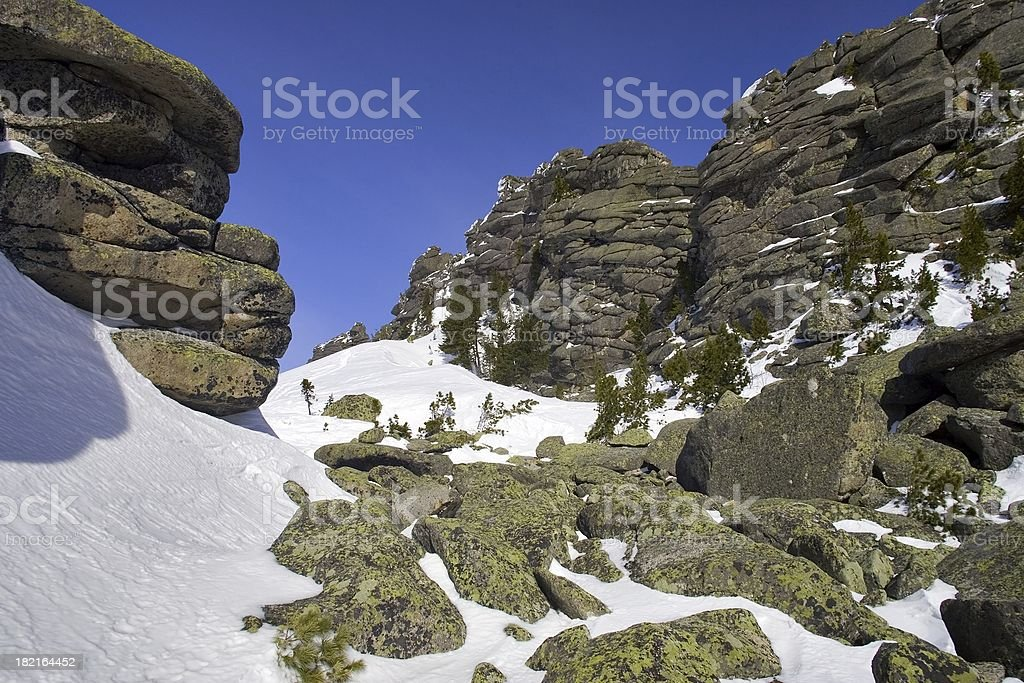 Sheregesh. Siberian mounts. 16 royalty-free stock photo