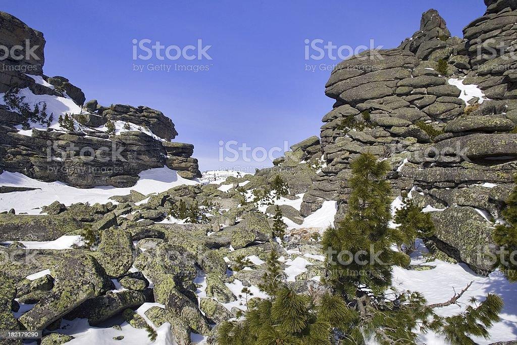 Sheregesh. Siberian mounts. 20 royalty-free stock photo