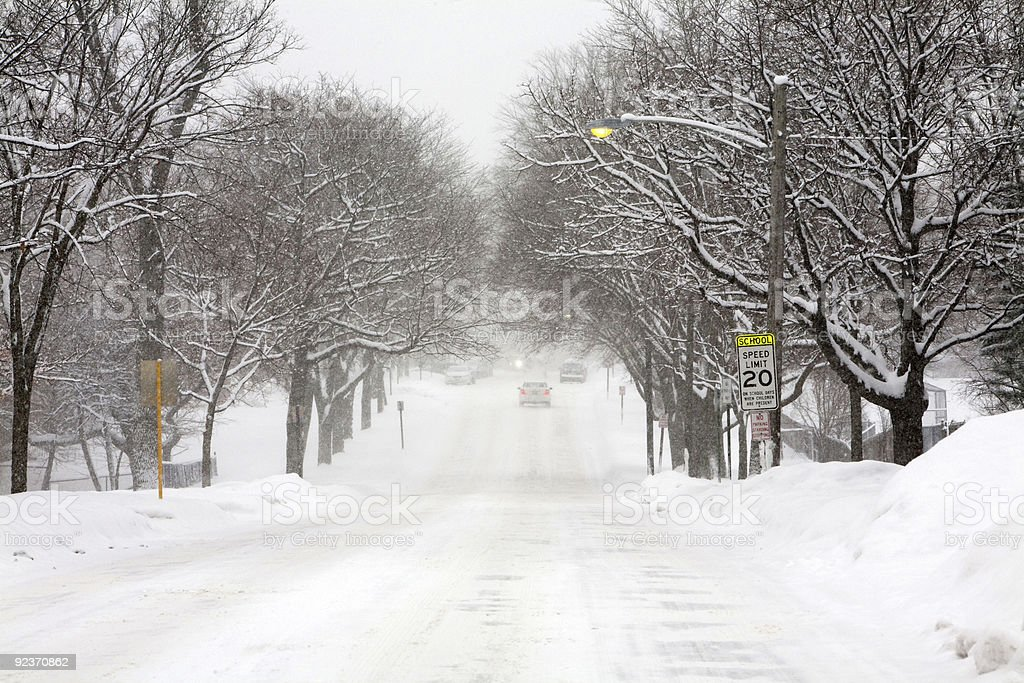 Sheridan Road in Winter royalty-free stock photo