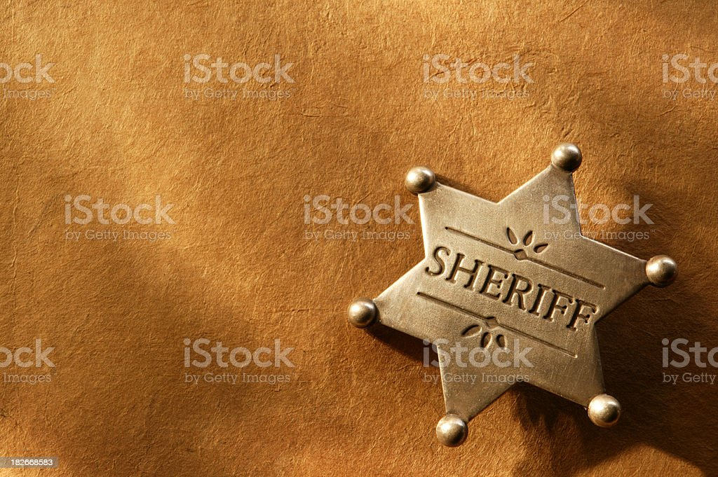 Sheriff Badge 3 stock photo