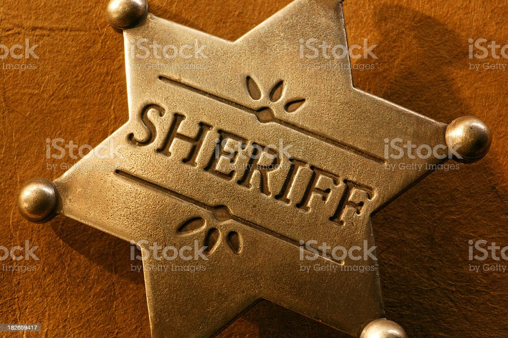 Sheriff Badge royalty-free stock photo