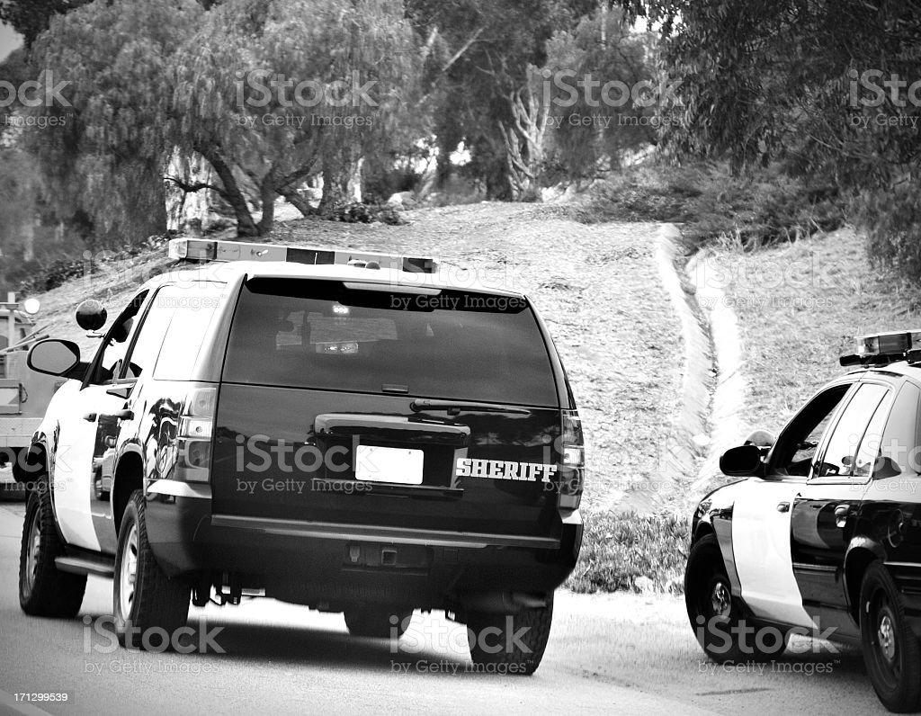 sheriff cars royalty-free stock photo