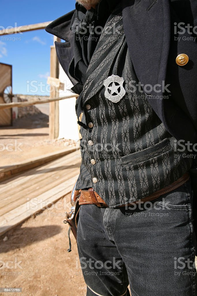 Sheriff details royalty-free stock photo