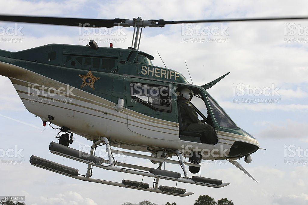 Sheriff Helicopter Taking off royalty-free stock photo