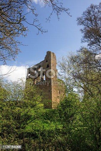 Landscape shot Sheriff Hutton Castle, in the village of Sheriff Hutton, North Yorkshire York