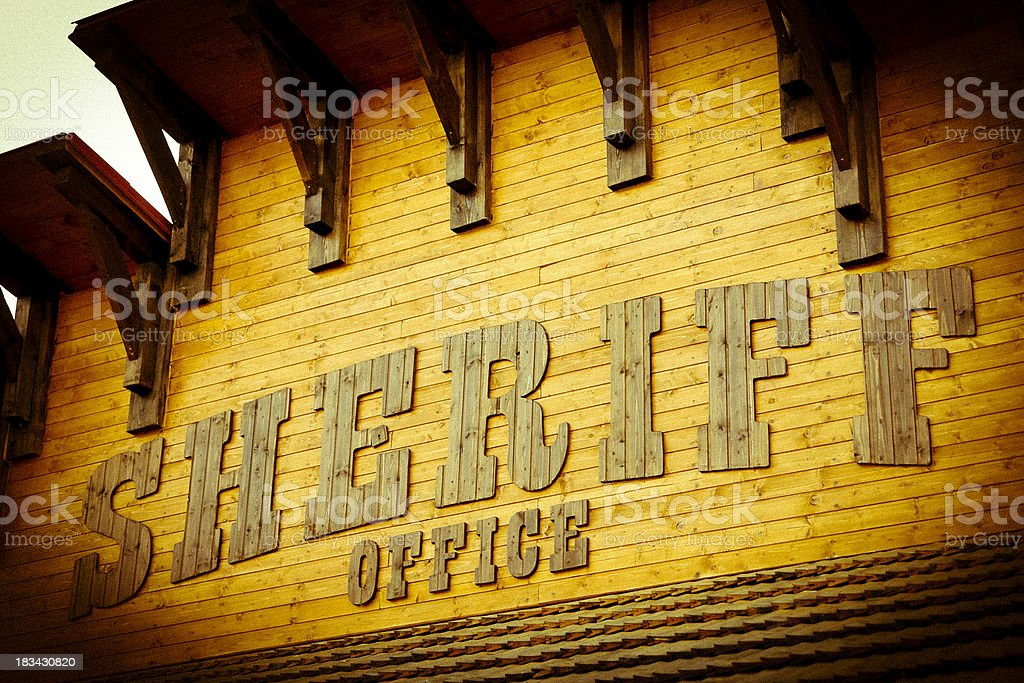 Sheriff Office sign royalty-free stock photo