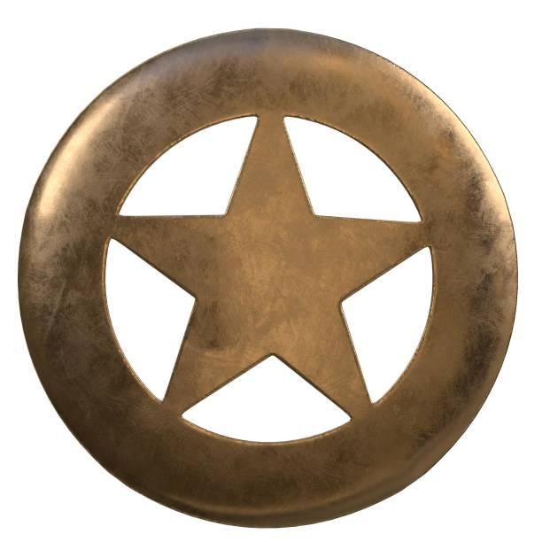 Sheriff round badge - foto stock