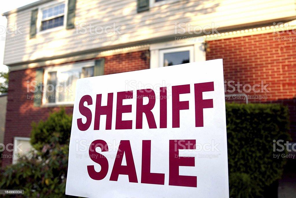 Sheriff sale stock photo
