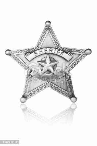 Sheriff star with reflection