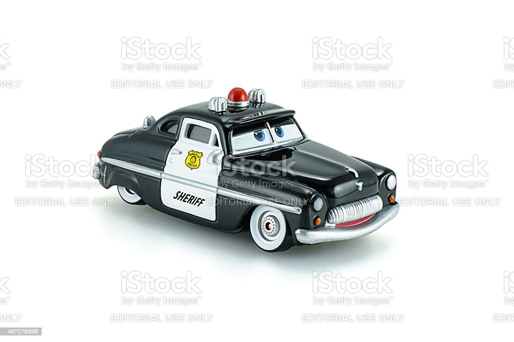 Sheriff traffic corp a die cast toy character. stock photo