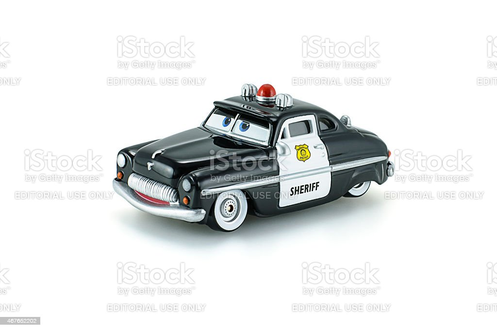 Sheriff traffic corp a die cast toy character stock photo