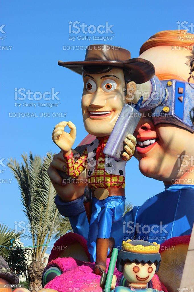 Sheriff Woody - Carnival of Nice 2016 stock photo